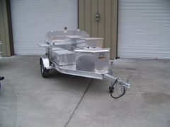 Another view of front storage on your barbecue grill trailer