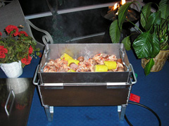Low Country Boil in the Table Top Seafood Steamer