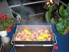 Low Country Shrimp Boil in the Table Top Seafood Steamer