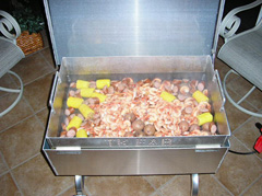 Low Country Boil in the Shrimp Steamer