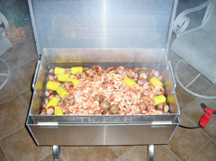 Low Country Boil in the Seafood Steamer