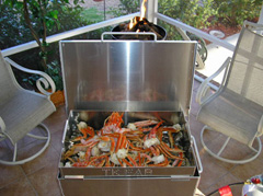 Snow Crab Legs in the Crab Steamer