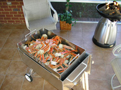 Crab legs in the Crab Steamer